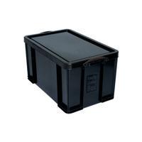 Really Useful Black 64L Recycled Plastic Storage Box 64Black R