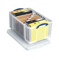 Really Useful Clear 64L Plastic Storage Box 710x440x310mm 64C