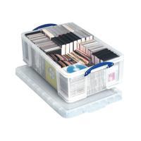 Really Useful Clear 50L Plastic Storage Box 710x440x230mm KING50C