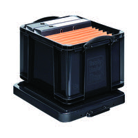 Really Useful Black 35L Recycled Plastic Storage Box 35Black R