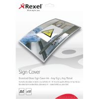 Rexel Standard Gloss A4 Sign Cover (Pack of 10) 2104251