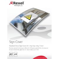 Rexel Standard Gloss A3 Sign Cover (Pack of 10) 2104254