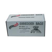 Safewrap 250 Litre Shredder Bags (Pack of 50) RY0474
