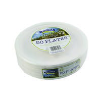 Super Rigid 9 Inch Biodegradable Plate (Pack of 50) 3864