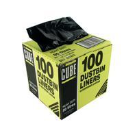 Le Cube Black 80 Litre Dustbin Liner Dispenser (Pack of 100) 0483