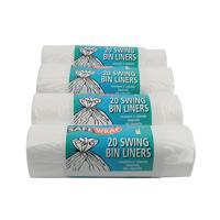 Safewrap Standard White Swing Bin Liners (Pack of 80) 0441
