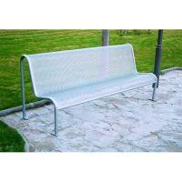 Value Metal Mesh Outdoor Bench Seat Grey 315563