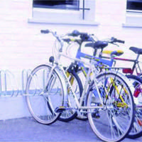 VFM Aluminium Wall/Floor Mounted 4-Bike Cycle Rack 320079
