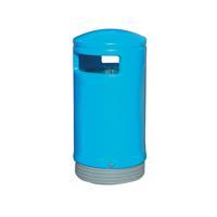 Outdoor Hooded Top Bin 75 Litre Blue 321772