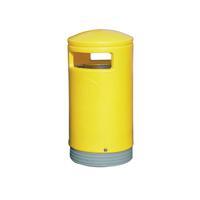 Outdoor Hooded Top Bin 75 Litre Yellow 321774