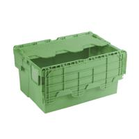Attached Lid Container 54L Green 360330