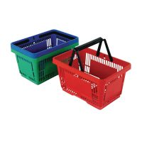 Plastic Shopping Basket Red (Pack of 12. 370768.