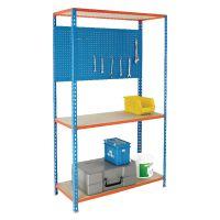 Shelving/Hanging Panel Narrow 900X400mm Blue 383572