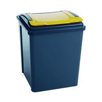 VFM Recycling Bin With Lid Yellow Grey/Yellow 384287