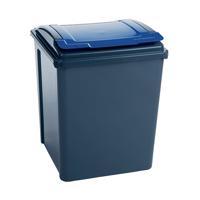 VFM Recycling Bin With Lid Blue Grey/Blue 384290