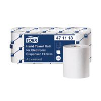 Tork Electronic White 2-Ply Hand Towel Roll 195mm Wide Sheet (Pack of 6) 471113
