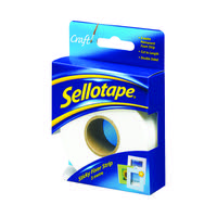 Sellotape White Sticky Fixers Strip 25mmx3m 484330