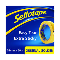 Sellotape Original Golden Tape 24mmx50m (Pack of 24) 1677859