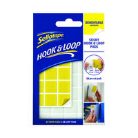 Sellotape Hook and Loop Removable Pads (Pack of 24) 2055468