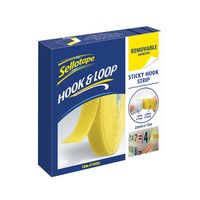 Sellotape Hook Strip 25mmx12m Removable Yellow 2055467