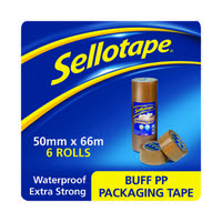 Sellotape Brown Packaging Tape 50mm x 66m (Pack of 6) 1445172