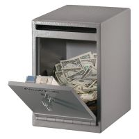 Master Lock Safe Medium Under Counter Drop Slot Safe Grey 11 Litre UC-039K