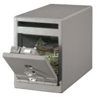 Master Lock Small Under Counter Drop Slot Safe 7 Litre Grey UC-025
