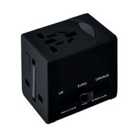 Swordfish VariPlug Universal Travel Adapter Black 40249