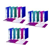 Snopake 2 Ring Binder Electra A4 25mm Assorted 3 For 2 (Pack of 20 + 10) SK812401