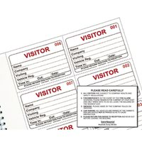 Identibadge System Visitors Book Refill (Pack of 300) IBRSYS300