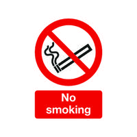 Safety Sign No Smoking A5 PVC ML02051R