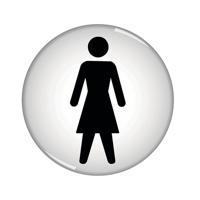 Domed Sign Women Symbol 60mm RDS1