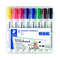 Staedtler Lumocolor 351 Drywipe Marker Assorted (Pack of 8) 351 WP8
