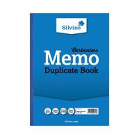 Silvine Carbonless Duplicate Memo A4 Book Blue (Pack of 3) 714