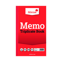 Silvine Triplicate Memo Book 210x127mm (Pack of 6) 605