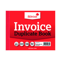 Silvine Duplicate Invoice Book 102x127mm (Pack of 12) 616