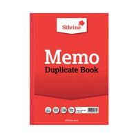 Silvine Duplicate Memo A4 Book 614-T