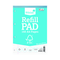 Silvine Envrion Ruled Refill Pad A4 160 Pages (Pack of 5) FSCRP80
