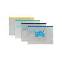 Clear Plastic A5 Coloured Zip Bags (Pack of 12)