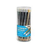 Hb Eraser Tip Pencils Pot Assorted (Pack of 72)