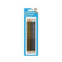 6 Eraser Tip Hb Pencils 301535 (Pack of 12)