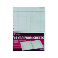 Rexel Variform V4 F1 Double Ledger Refill Pack of 75 75951
