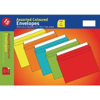 Assorted Vibrant C5 Peel and Seal Envelopes (Pack of 10) UB70051