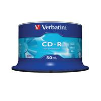 Verbatim CD-R Extra Protection Spindle 52x 700MB (Pack of 50) 43351