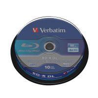 Verbatim Blu-ray BD-R 50 GB 6x Spindle (Pack of 10) 43746