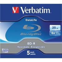 Verbatim Blu-ray BD-R 25GB 6x Jewel Case (Pack of 5) 43836