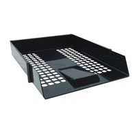 Black Plastic Letter Tray (Pack of 12) WX10050