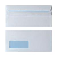 Envelope DL Window 90gsm White Self Seal (Pack of 1000) WX3481