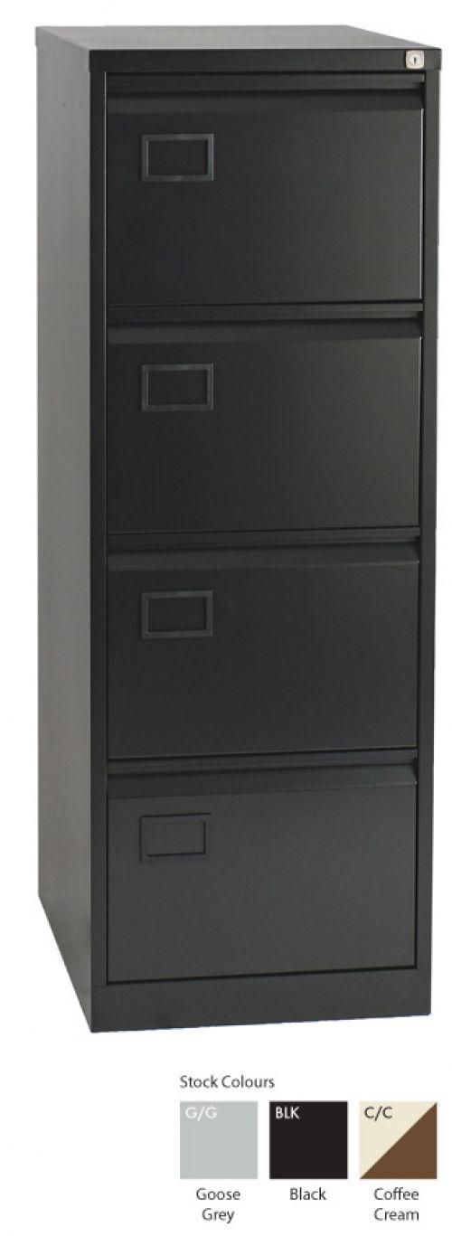 Context 4 Drawer Filing Cabinet Goose Grey AOC4-av4