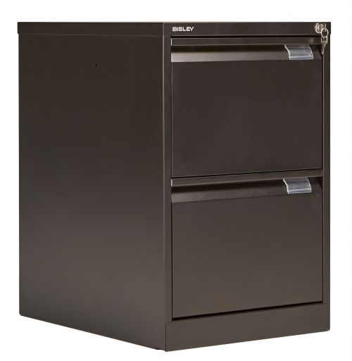 Bisley 2 Drawer Classic Steel Filing Cabinet - Black